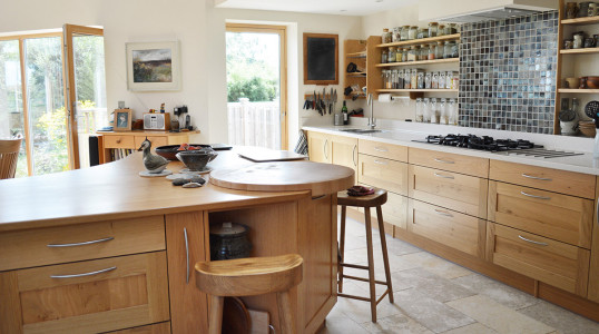 A beautiful example of a bespoke wooden Treyone kitchen
